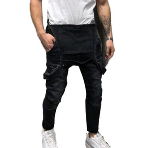 Sıcak Satış Moda Erkek Jeans Yüksek Kaliteli Trend Casual askı pantolon Erkekler Kadınlar İnce Pantolon stilist