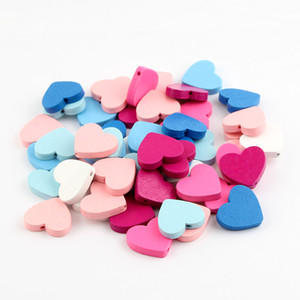 30pcs / Lot 20x23mm Natural Wood solto Spacer Beads coração contas de madeira para fazer jóias Colar Pulseira DIY