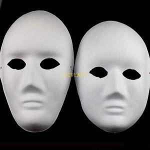Halloween Vollmasken für Erwachsene DIY Handgemalte Zellstoff Gips Bedeckt Papier Mache Leere Maske Großhandel Männer Frauen Plain Party Maske