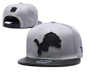 ücretsiz kargo yeni Detroit Futbol Snapback Ayarlanabilir Snapbacks Caps Şapka Spor Takımı Kalite şapkalar Casquette kemik şapkası