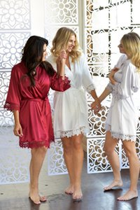 Kadın Gelinlik Giydirme İç Babydoll Saten İpek Nakış V-Yaka pijamalar Elbiseler Gecelik Elbiseler 2020 Yeni Geliş