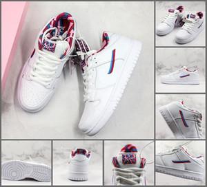 Parra SB Dunk zapatos de skate 2019 blanco rosado peludo para hombre mujer diseñador deportivo zapatillas de deporte casuales de calidad superior tamaño 36-45