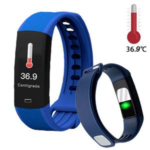 Nuovi Temperatura B6W corpo di rilevamento intelligente del braccialetto di grande vigilanza dello schermo di immunità di misura Pressione sanguigna Pressione ossigeno frequenza cardiaca PK E66