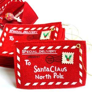 Envelopes do Natal saco de doces para o dinheiro de bolso Cartões de Santa sacos do presente de Natal Decorações da árvore A03