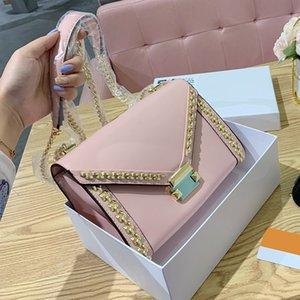 whitney rivet crossbody shoulder bags for women genuine leather handbags chain bags high quality fashion female bag 2020