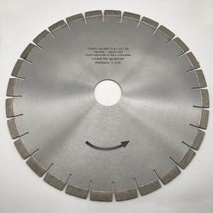 Diamond Silent Core Saw Blade 16 pulgadas (400 mm) para granito Stone Bridge Saw Machine Cutting Disc Agujero interno 50/60 mm Altura del segmento 15 mm