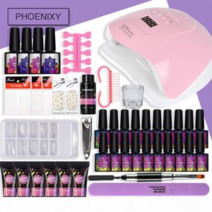Full Manicure Set Polygel Nail Set With 80w LED Dryer Lamp Nail Art Tools Extension Gel Polish For Kit