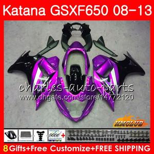 Kit Pour SUZUKI KATANA GSXF 650 2008 2009 2009 2010 2011 2012 2013 2014 18HC109 GSXF-650 Violet noir GSX650F GSXF650 08 09 10 11 12 13 14 Carénage