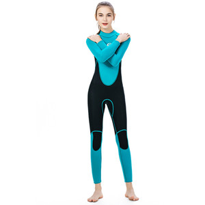 super stretch wetsuits for ladies full suit flatlock stitching swimming surfing diving suit blue black matches design available