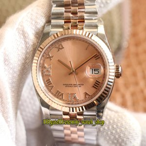 EW V2 Best version DateJust 36mm 126331-0010 126231 Cal.3235 Automatic 126331 Mens Watch Pink Dial Sapphire 316L Steel Case Designer Watches