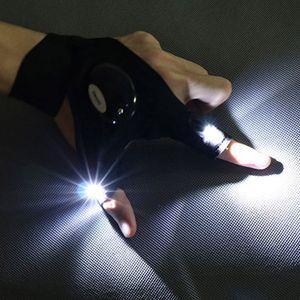 دراجة نارية LED قفاز الإضاءة LED إصبع القفاز ليلة لتصليح السيارات في الهواء الطلق السيارات صيد بقاء أداة الشنق في حالات الطوارئ الخفيفة