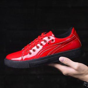 VSIOVRY Primavera Otoño Zapatos Hombres Zapatos de cuero de la pu Zapatos ocasionales respirables impermeables para hombre Moda hombres Krasovki Zapatillas de deporte casuales