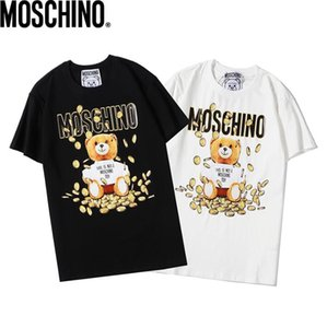 Les nouveaux hommes et femmes créateur de mode de marque T-shirt DFMoschino Original Design Hip Hop Hommes T-shirt numérique Impression directe T-shirt