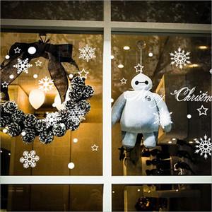 Natale Window Sticker fiocco di neve di natale parete delle decalcomanie della finestra del vinile autoadesivi Home Art bambini stanza della scuola materna di natale Carino Festival Decor
