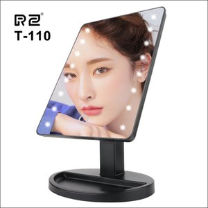 LED Lighted Makeup Mirror With Adjustable LEDs Light 16 Touch Screen Mirrors For Beauty Facial Makeup Portable Vanity Table Lamp CX200630