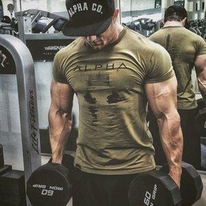 Ejército militar para hombre camiseta de los hombres de la estrella del algodón flojo camiseta del O-cuello Alfa Latina Tamaño de manga corta camisetas de entrenamiento Tees Superior Masculina 2060600V