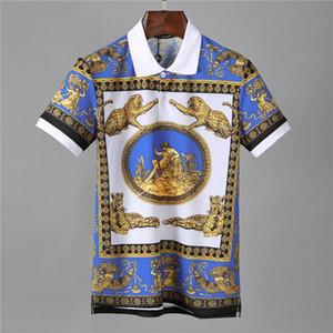 desenhar o padrão 2019 de designer polos camisa stripe polo camisetas cobra abelha bordado floral mens alta rua T-shirt do cavalo de moda polo