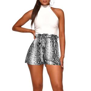 Female Hot Casual Strap Shorts Plus Size Sexy Print Snake Pattern Women Shorts 2019 New Fashion Summer Hight Waist Loose Beach