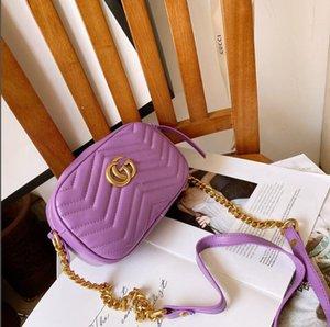2019 Wholesale new Canvas genuine leather lady messenger bag phone purse fashion satchel nano pillow shoulder bag handbag 61252