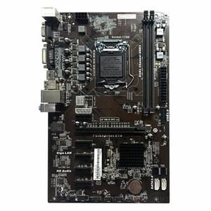 Placa base H81A-BTC V20 Miner ATX Board LGA1150 Procesador de zócalo H81 Mainboard Soporte 6 Tarjeta gráfica para minería