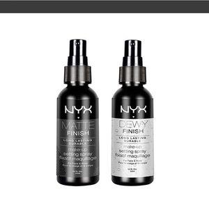 새로운 NYX Dewy Finish Fini Veloute Matte Finish Fini Mat Foundation Primer 2 Edition 메이크업 페이스 스프레이 파운데이션 60ml