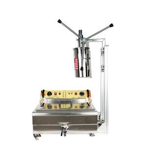 Коммерческая 5L ручная машина Churros с фритюрницей 30L Churros делает машину ручной Churros Maker Machine популярное испанское оборудование для закусок