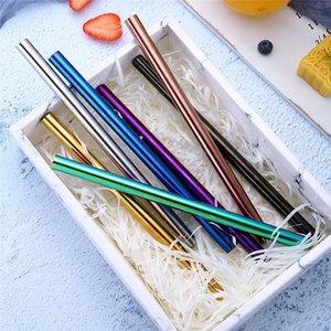 0813 Payet Mutfak Dropshipping # İçme 2019 Sıcak INS Sıcak satış Renkli Uzun Paslanmaz Çelik Metal İçme Pipetler Yeniden kullanılabilir