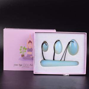 4 stücke Set Yoni Ei Natürliche Opal Jade Yoni Eier mit Massagestock Für Frauen Kegel Übung Stärken Beckenbodenmuskeln