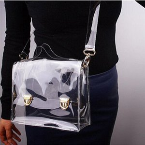 PVC Transparent Crossbody Bag Small Square Box Shoulder Bags Clear Waterproof Handbag Totes For Women Girls Jelly Phone Purse YD0474