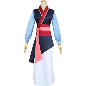 Mädchen Heroine Hua Mulan Kostüm Dress up Deluxe Halloween Cosplay Ausstattungs-Abendkleid