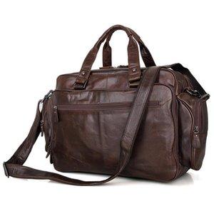 Mann-echtes Leder-Reise-Aktenkoffer Handtaschen 16 Zoll große Naturleder Laptop-Tasche Kuhfell Business Bag Lässig Messenger Bags
