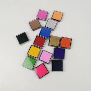 DHL Frete grátis 500 pcs 15 cores Ofício Almofada De Tinta / Colorido Almofada De Tinta Dos Desenhos Animados para diferentes tipos de selos 230 pcs