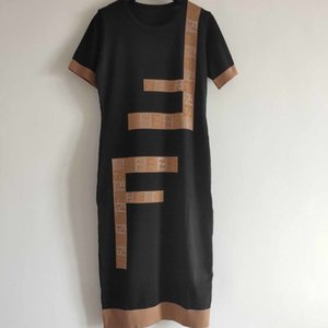 Womens Designer vestido Ladys Marca Carta Imprimir Saias Mulheres Casual Estilo Luxo Verão Vestidos Moda 2020 New Style Hot Sell 6R7K