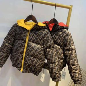 heißer Verkauf 2020 Marke Kinderbekleidung Jungen und Mädchen-Winter-Kapuzen dicken Mantel Kind-Baumwollmantel Daunenjacke Kid Jacken Kleidung