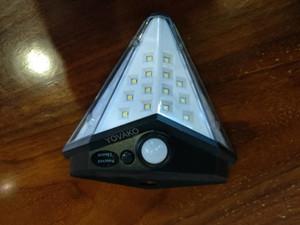 YOVAKO Led Солнечные Открытый датчик движения огни Модернизированная панель солнечных батарей 15,3 in2 и 3 Режимы с IP65 Водонепроницаемый с широким углом