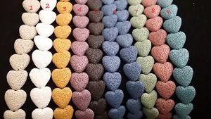 Kalp şeklinde LAVA Difüzör A0097 Temel Kolye Renkler Aromaterapi Kolye Kolye Kaya 9 Taş Yağı Takı Moda Kadınlar Için O NMFK
