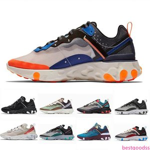 2019 Total Orange Epic React Element 87 Running Shoes For Women men Dark Grey Blue Chill Trainer 87s Sail Green Mist Sports Sneakers