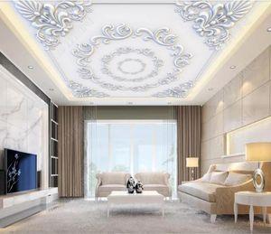 Personnalisé 3D Plafond Papier Peint Papier Peint Style De Cour Salon 3d papier peint pour murs plafond Or 3d papier peint moderne
