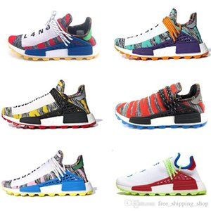 Authentic Etnia Afro Hu Humano Pharrell Williams traniers LERDO Sapatos Homem design das mulheres do corrente Jogging caminhadas sapatos tênis Sneakers desportivas