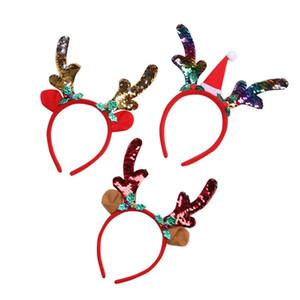 Mermaid Paillettes Antlers Head Hoop Decorazioni di Natale Scala di pesci Headwear Bambini Lovely Heads Band Nuovo arrivo 1 9zq L1