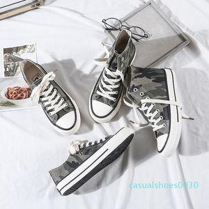 Tuval Kamuflaj Kadınlar Günlük Ayakkabılar Denim Sneakers kadınlar vulcanize Ayakkabı Oxford plimsolls Ayakkabı Yaz Kadın C30