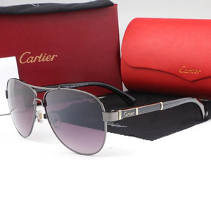 Sonnenbrille der Männer Adumbral Luxus Brille mit Full Frame für Männer Frauen Plain Designer-Sonnenbrillen Light Glas mit Box