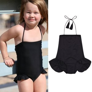 Kids Baby Girl Bandage Monokini Toddler Backless Halter Bodysuit Beach Bathing Suit Swimwear Bikini Swimwear Swimsuit Beachwear