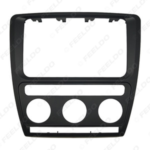 Car 2DIN DVD CD Radio Stereo Refitting Frame Facia Panel Trim For Skoda Octavia Laura (2004~2008) With Auto A C Installtion Mount Kit #5696