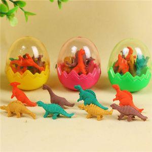 Творческое Студенты животных Резинки для малыша Стационарный новизны подарка Dinosaur Egg Карандаш резинкой Отличный подарок Бесплатная доставка