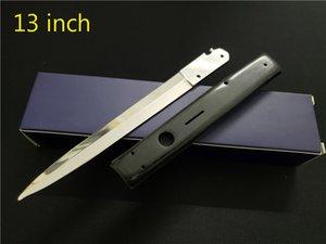 13 нож итальянский AB Godfather Mafia Blade горизонтальная выживание складной дюйма 440C ножи автоматическая тактическая охота кемпинга для кемпинга инструмент STILETTO NDJD