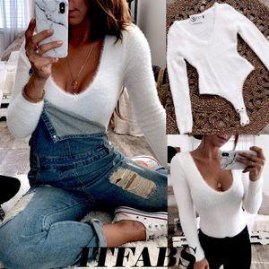 Hirigin Brand Romper Bodysuit 2020 New Women Lady Long Sleeve Shirt Romper Jumpsuit Bodysuit Stretch Leotard Top Blouse