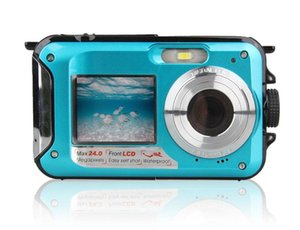 2020- 2.7 TFT Su geçirmez Dijital Kamera Full HD Sualtı Kamera 24 MP Video Kaydedici Selfie'nin İkili Ekran DV Kayıt Kamera r25