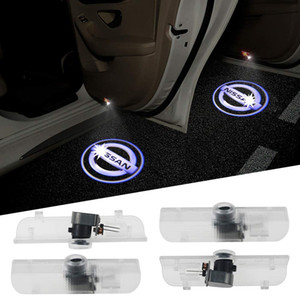 2pcs Puerta Logo luces del proyector Bienvenido luces logotipo de coches Lámparas Puerta de reemplazo conjunto de LED luces de cortesía Paso