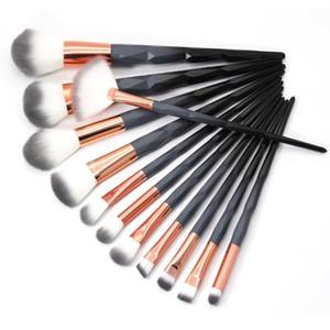 7/10/12 шт. Набор кистей для макияжа с бриллиантами Black Macarons Color Foundation Косметический набор кисточек для макияжа